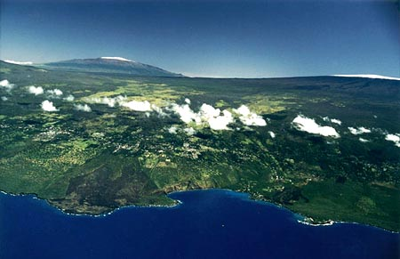 Aerial photo of Kealakekua Bay by Joe D'Amore