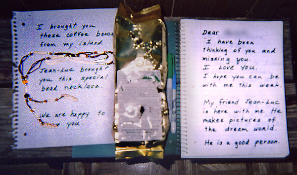 Note with gift offerings